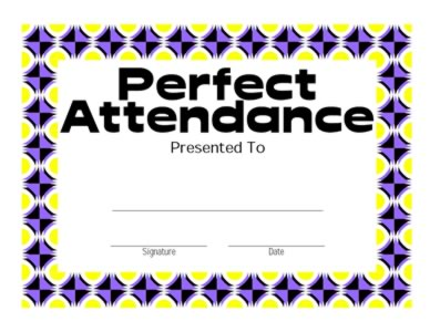 ... Photos - Printable School Certificate Perfect Attendance Download Pdf